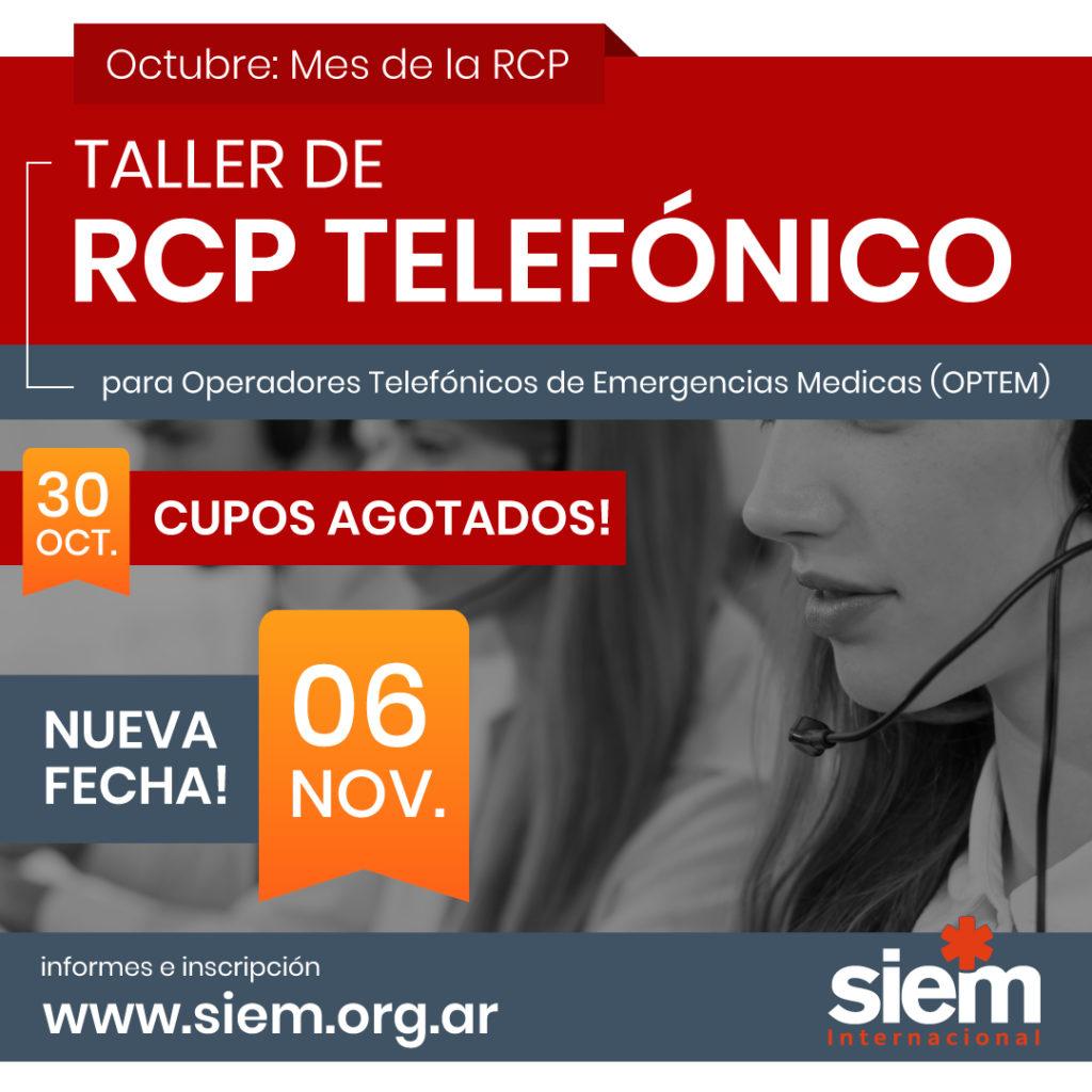Taller de RCP telefónico 6 de Noviembre de 2020 @ SIEM -Online   Buenos Aires   Argentina