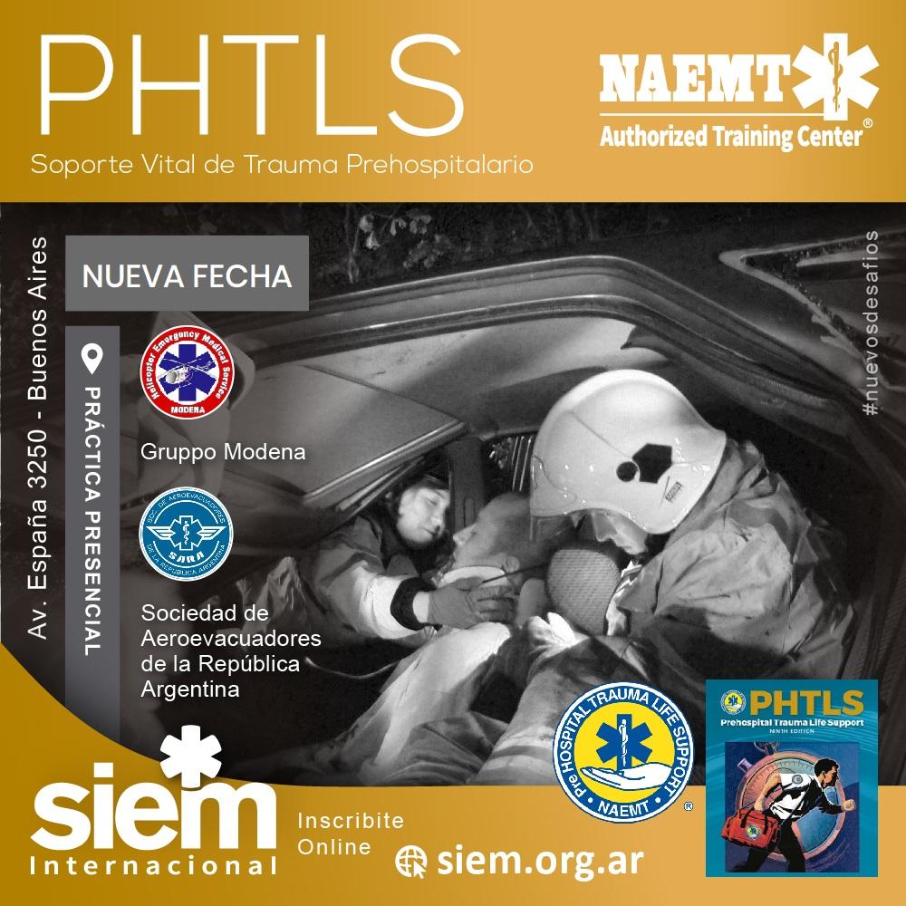 Curso PHTLS 8 de Agosto de 2021 - Prácticas Presenciales @ Modena Group / Sociedad de Aeroevacuadores Puerto Madero