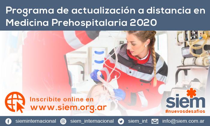 Programa de actualización a distancia en Medicina Prehospitalaria 2020