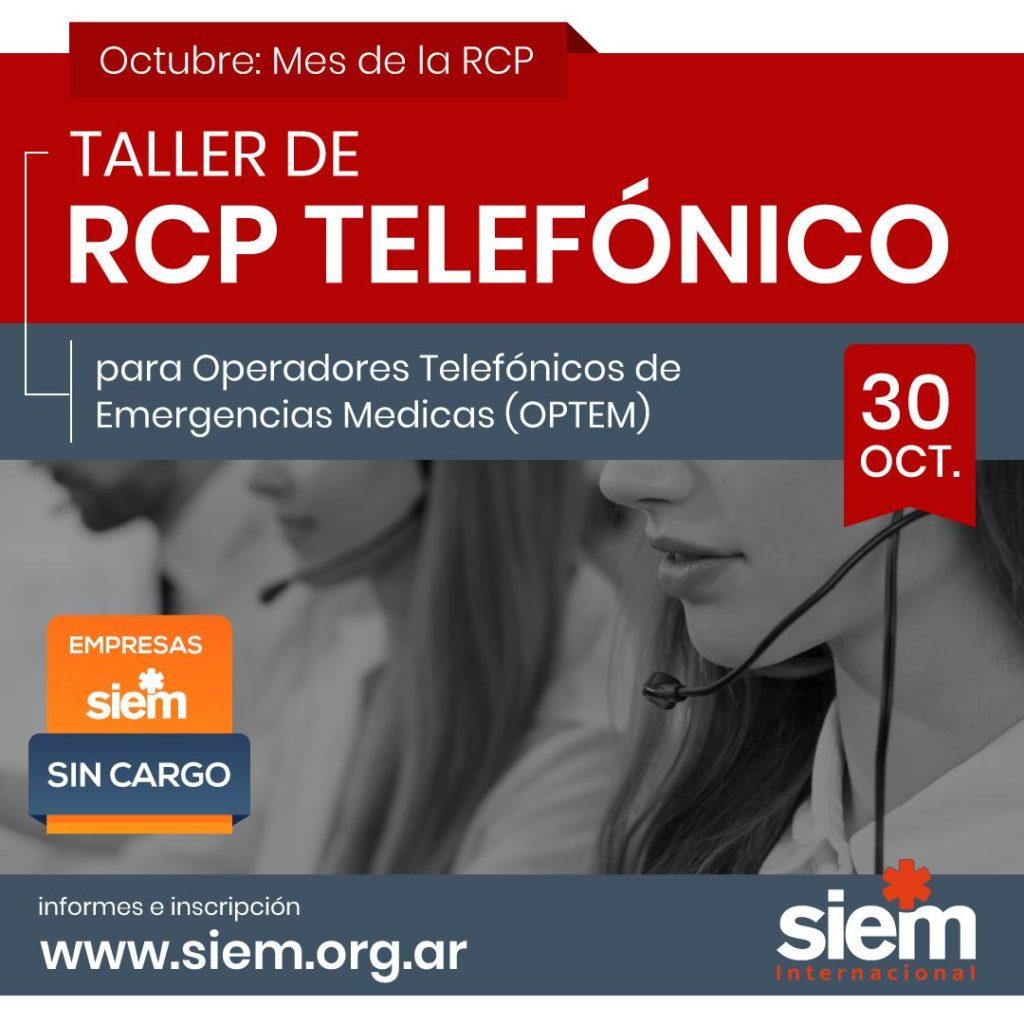 Taller de RCP telefónico 30 de Octubre de 2020 @ SIEM -Online | Buenos Aires | Argentina