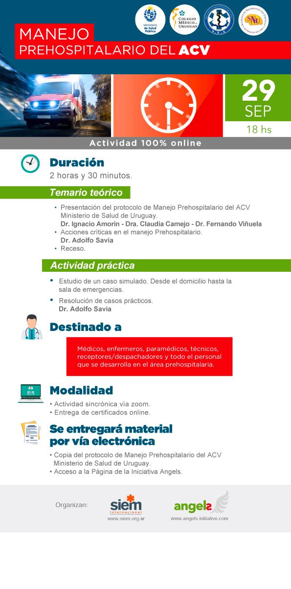 Taller Online: Manejo Prehospitalario del ACV - Exclusivo para Uruguay - 2da edición